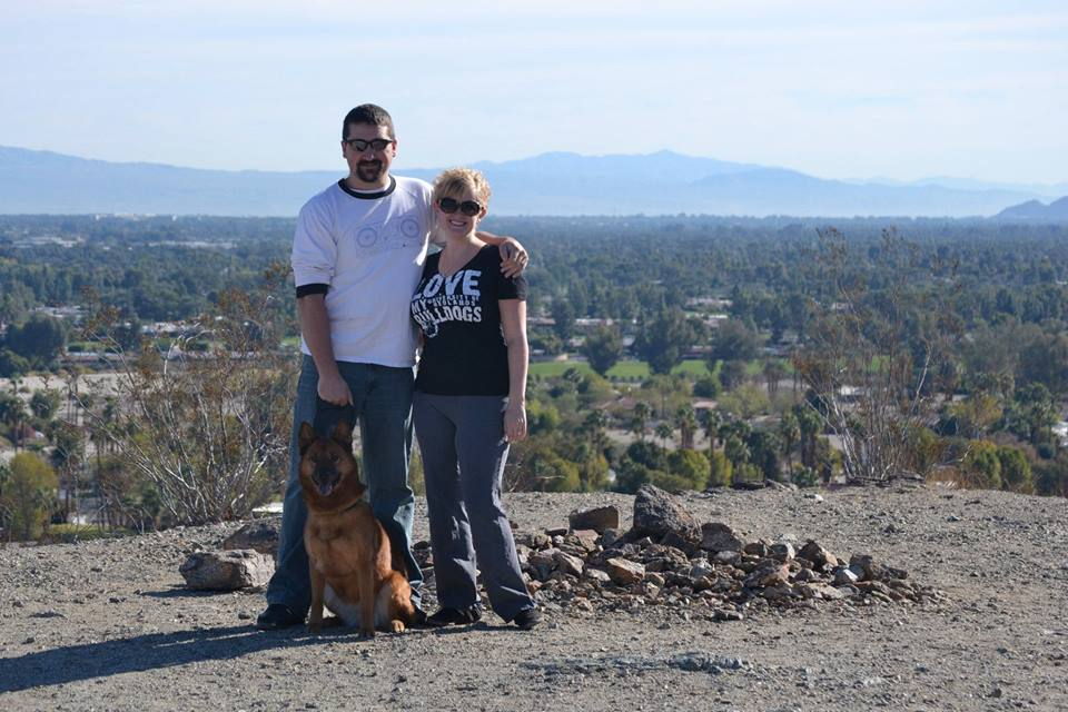 Me, my husband (and sometimes HARC lackey) Braden, and our dog Babushka on a hike near our home.
