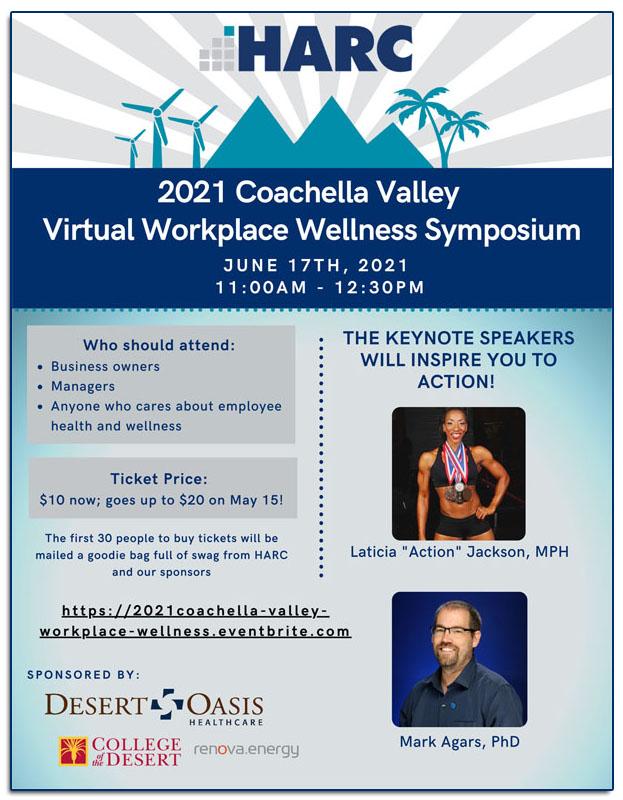 HARC's Coachella Valley 2021 Virtual Workplace Wellness Symposium